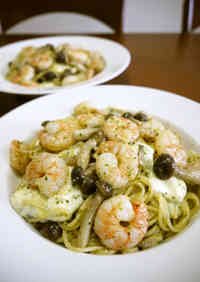 Genovese with Shrimp and Mozzarella Cheese