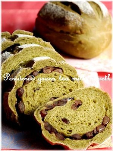 Green Tea Milk Hearth Bread
