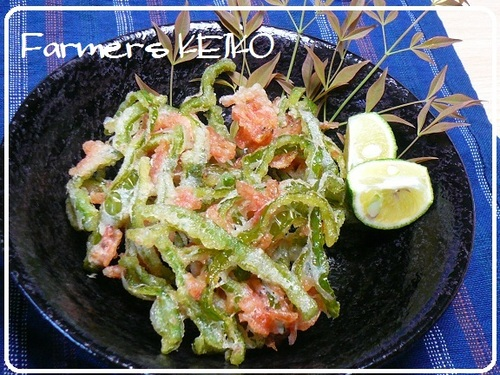 Green Pepper and Sakura Shrimp Kakiage Fritters