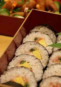 Frozen Futomaki Fat Sushi Rolls for Sports Festivals or Setsubun