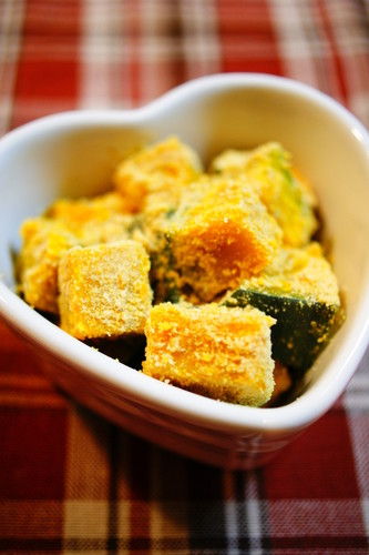 Kabocha Squash Seasoned with Sesame and Kinako