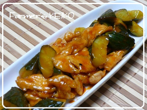 Cucumber and Chicken Sweet and Sour Stir-fry