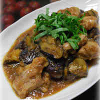 Fried Eggplant and Chicken with Mizore Sauce (Namban-style)