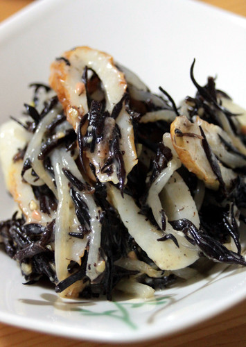 Hijiki Seaweed and Chikuwa in Miso Honey Mayonnaise