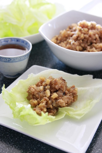 Minced Pork Lettuce Bowls
