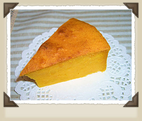 Moist and Rich Kabocha Cake