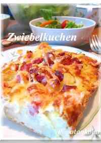 Zwiebelkuchen -- Savory Onion Cake for Autumn