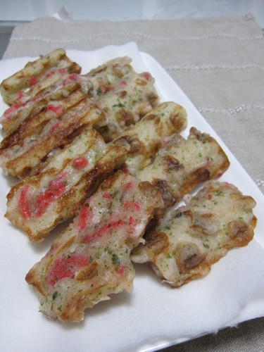Fried Chikuwa with Pickled Red Ginger Isobe Age