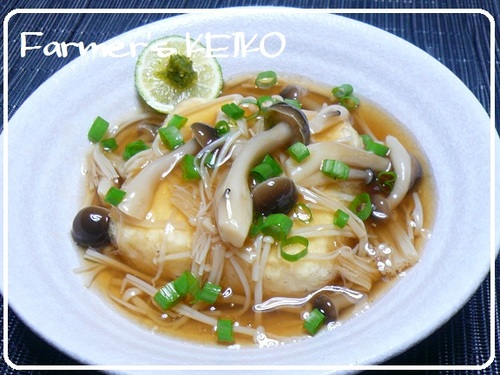Deep-fried Tofu with Thickened Mushroom Sauce