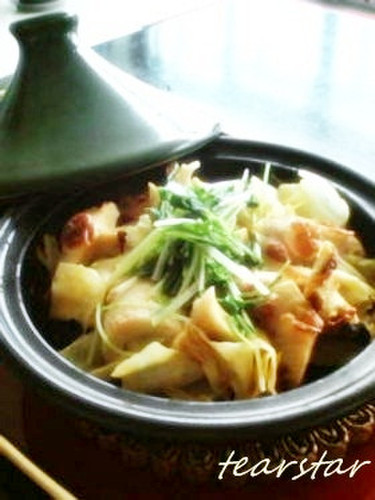 Curry Mayo Cabbage and Chikuwa Steamed in a Tajine Pot