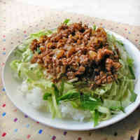 5 Minute Hamburger Rice Bowl!