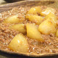 Daikon Radish and Ground Beef Thick Simmered Dish