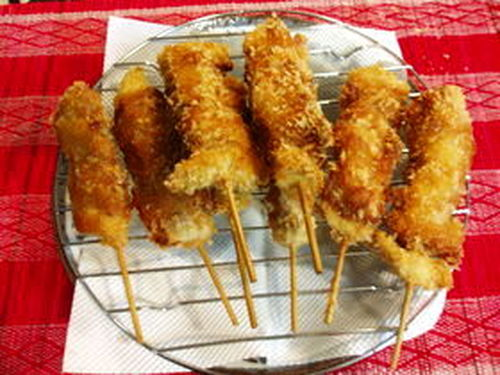 This is Cheap! Unpretentious Fried Meat Skewers with Fresh Ginger