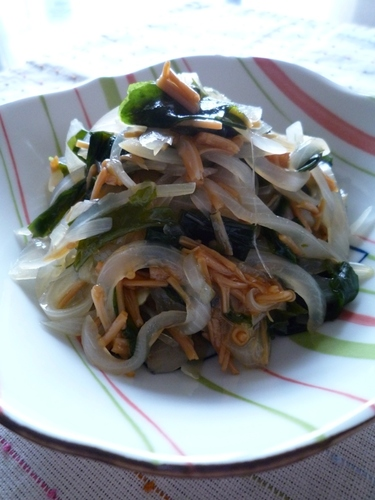 One More Recipe with Onion & Nameko Mushrooms