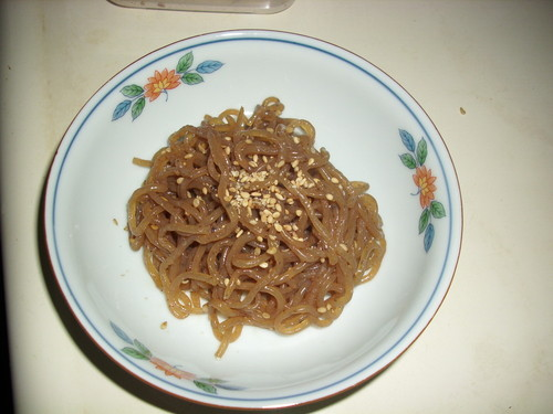 Healthy Sesame-flavored Shirataki Noodles