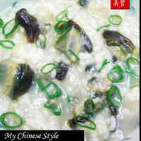 Hong Kong-Style Authentic Chinese Century Egg & Pork Rice Porridge