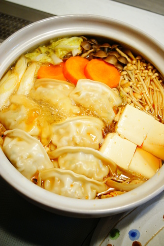 Spicy Ponzu Hot Pot with Gyoza