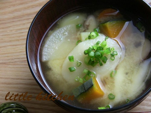 Miso Soup with Mochi Dumplings