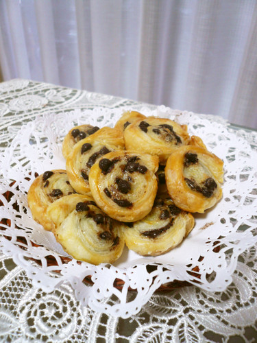Bite-Sized Chocolate Chip Pies with Frozen Puff Pastry