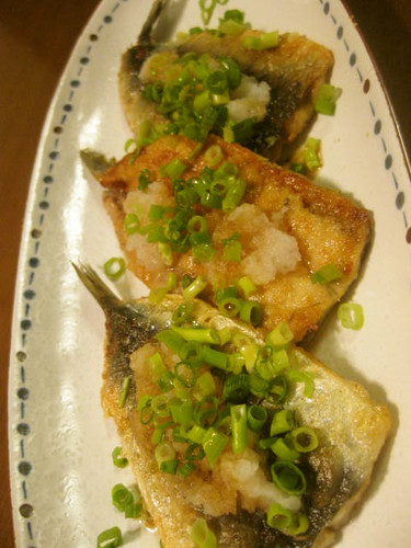 Butterflied Sardine with Zesty Grated Daikon Radish and Ponzu