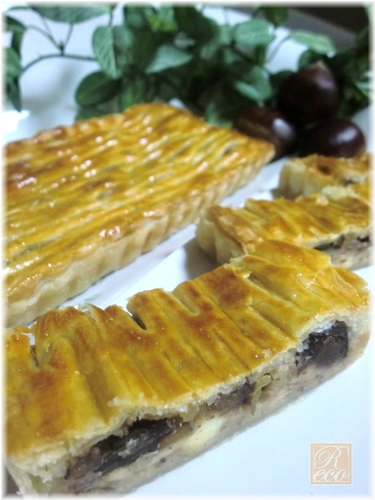 Creme de Marron Pie with Chestnuts Simmered in Inner Skins and Cream Cheese