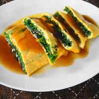 Satisfying Garlic Chive Omelet with Thickened Sauce