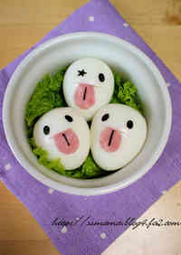 Quail Egg Ghosts for Halloween