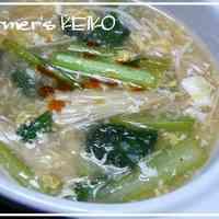 [Farmhouse Recipe] Komatsuna Hot and Sour Soup