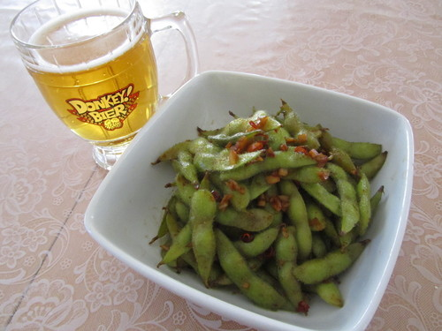 Garlic Edamame - Great When Drinking