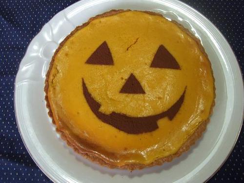 Moist Pumpkin Tart for Halloween