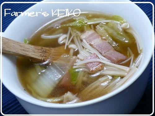 [Farmhouse Recipe] Chinese Cabbage and Enoki Mushroom Soup