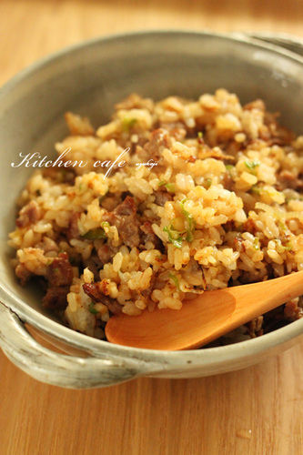 Leek, Pork, and Miso Fried Rice