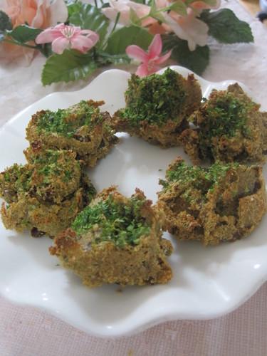 Macrobiotic Baked Rice Bran & Natto Dumplings