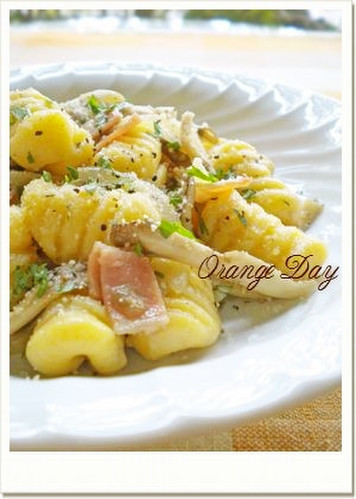 Sweet Potato Gnocchi with Garlic and Butter Sauce