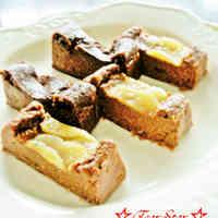 Pear and Cocoa Blancmange-style Okara Cake