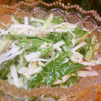 Easy Mizuna and Daikon Radish Salad