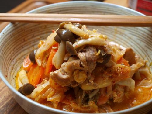 Stir-fried Pork and Kimchi with Yogurt