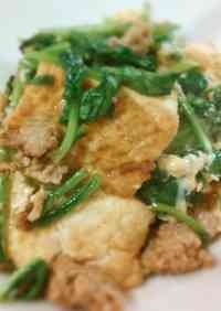 Easy and Delicious Tofu and Spinach Champuru (Okinawan Stir-Fry)