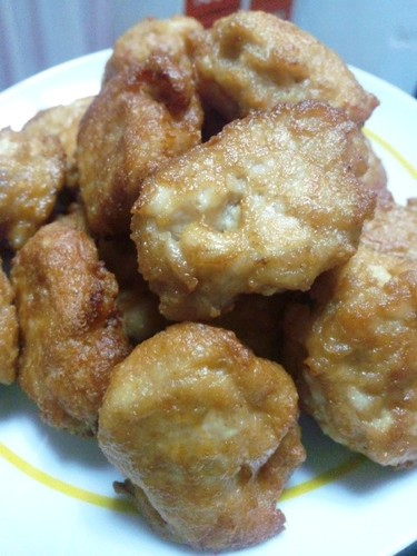 Deep Fried Chicken Breast and Firm Tofu
