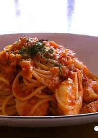 Shrimp Tomato Cream Pasta