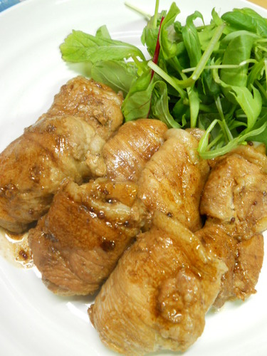 Meat Wrapped Lotus Root and Grainy Mustard