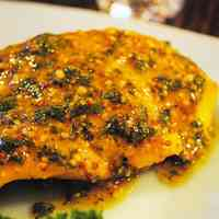 Spiced Salmon Meunière with Mustard Sauce