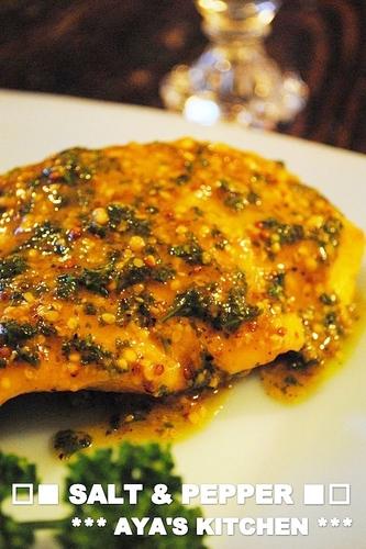 Spiced Salmon Meunière with Mustard Sauce