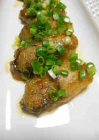Stir-fried Oysters with Ponzu Sauce