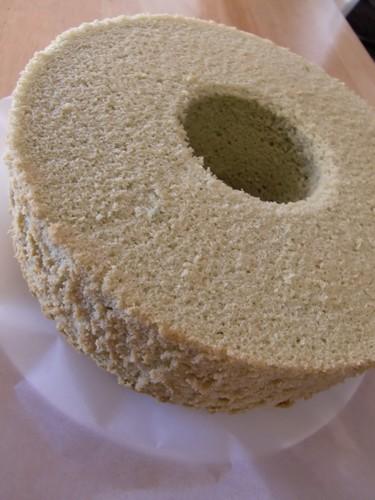 Rice Flour Green Tea Chiffon Cake