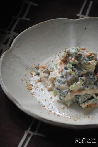 Shira-ae (Mashed Tofu with Spinach and Konnyaku)