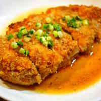Chicken Cutlets in Sweet-Savory Sesame Sauce