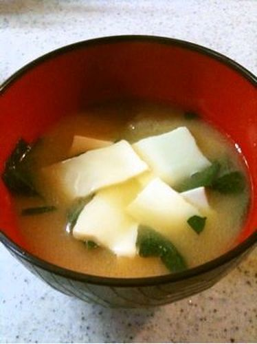 Cheese in Miso Soup