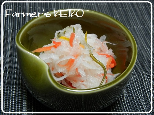 [Farmhouse Recipe] Celebratory Red and White Namasu (Marinated Daikon and Carrot Salad)