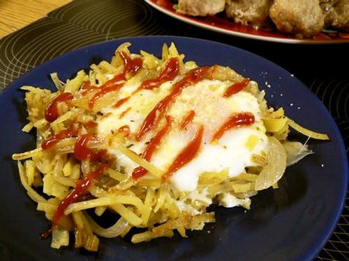 Potato and Onion Egg Nests